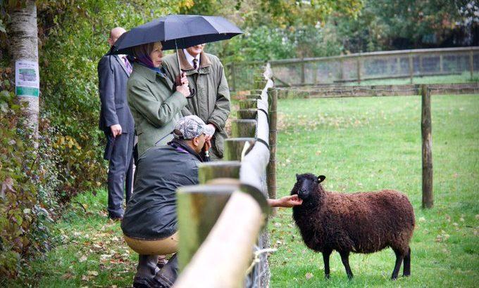 Princess Anne visits City Farm